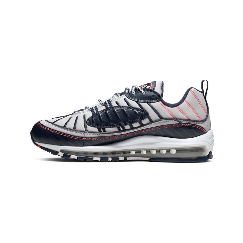 Nike Men's Air Max 98 NYC White Silver Bright Crimson - KickzStore