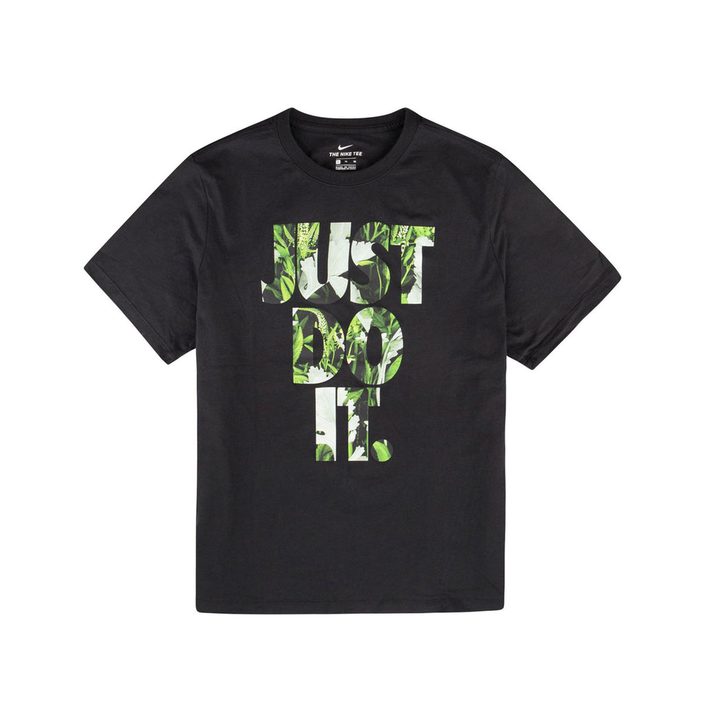 Nike NSW Sportswear JDI Just Do It Floral Shirt Black Tee - KickzStore
