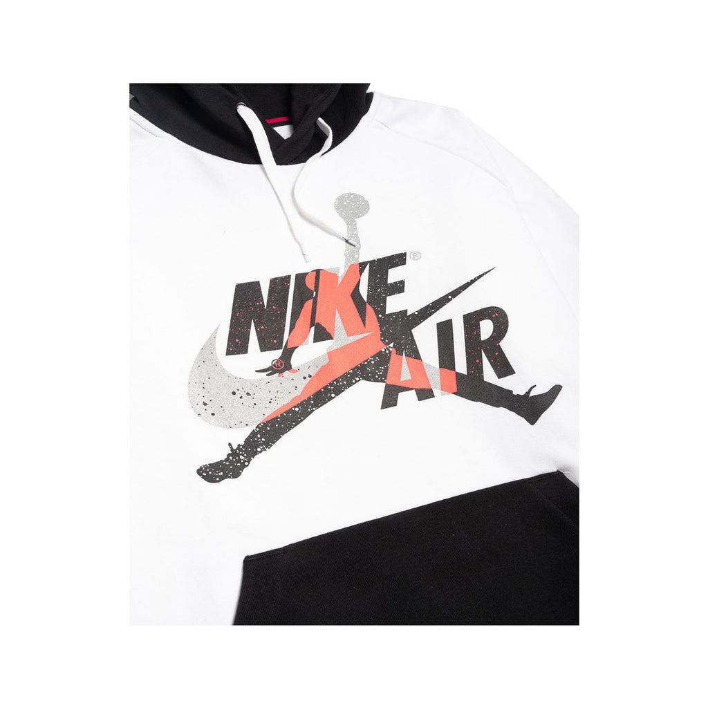 Nike Men's Air Jordan Mashup Jumpman Classics Lightweight White Fleece Hoodie - KickzStore