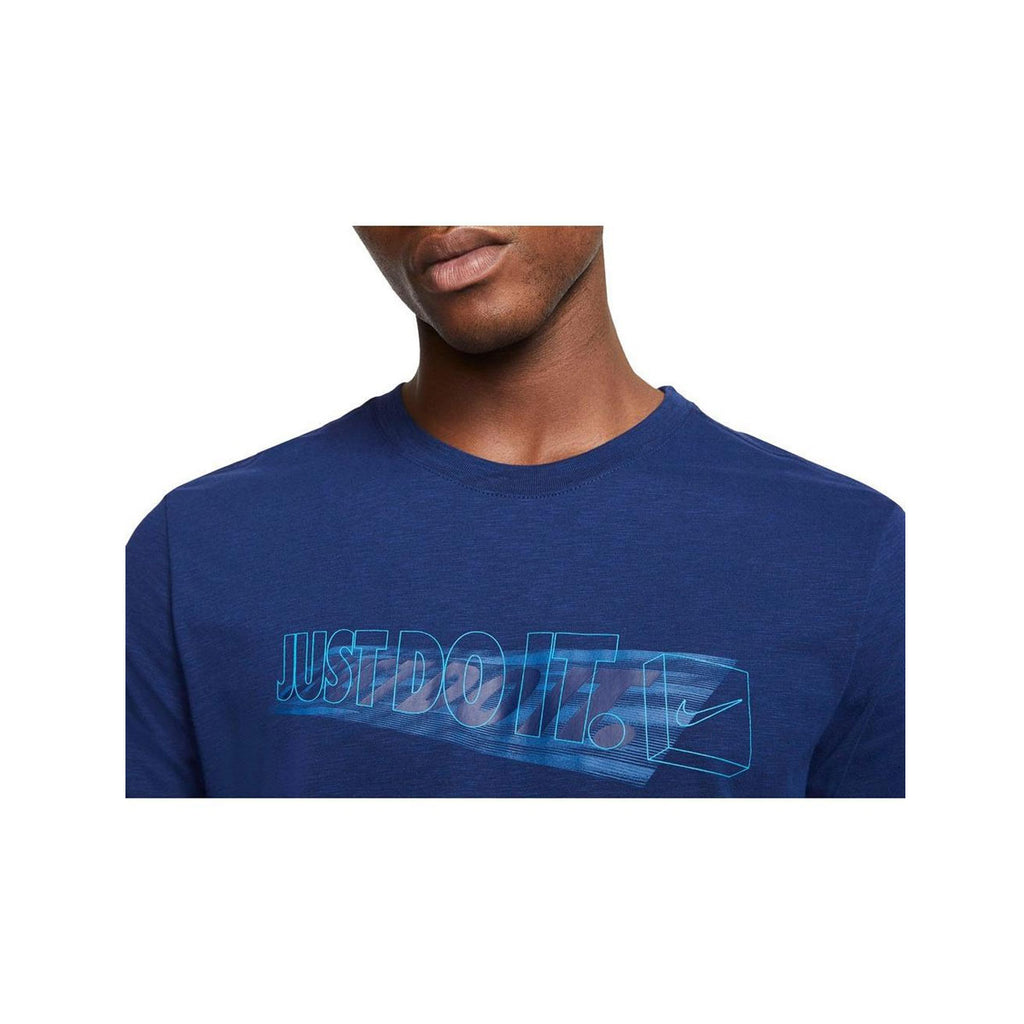 Nike Men's Dri-Fit JDI Logo Training T-Shirt Navy Blue