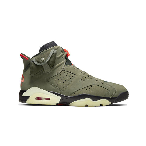 Air Jordan Men's 6 VI Retro Travis Scott Cactus Jack Medium Olive
