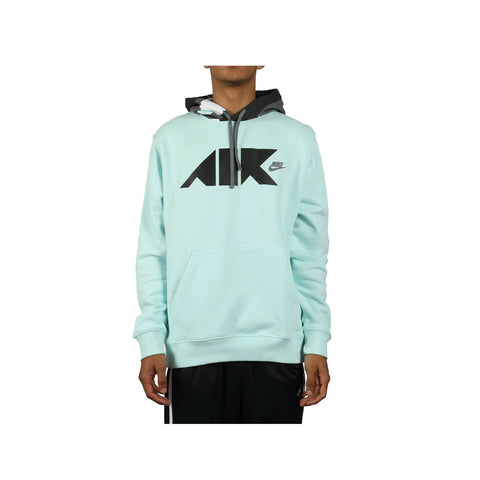 Nike Men's Sportswear NSW Club Fleece Geometric Teal Pullover Hoodie