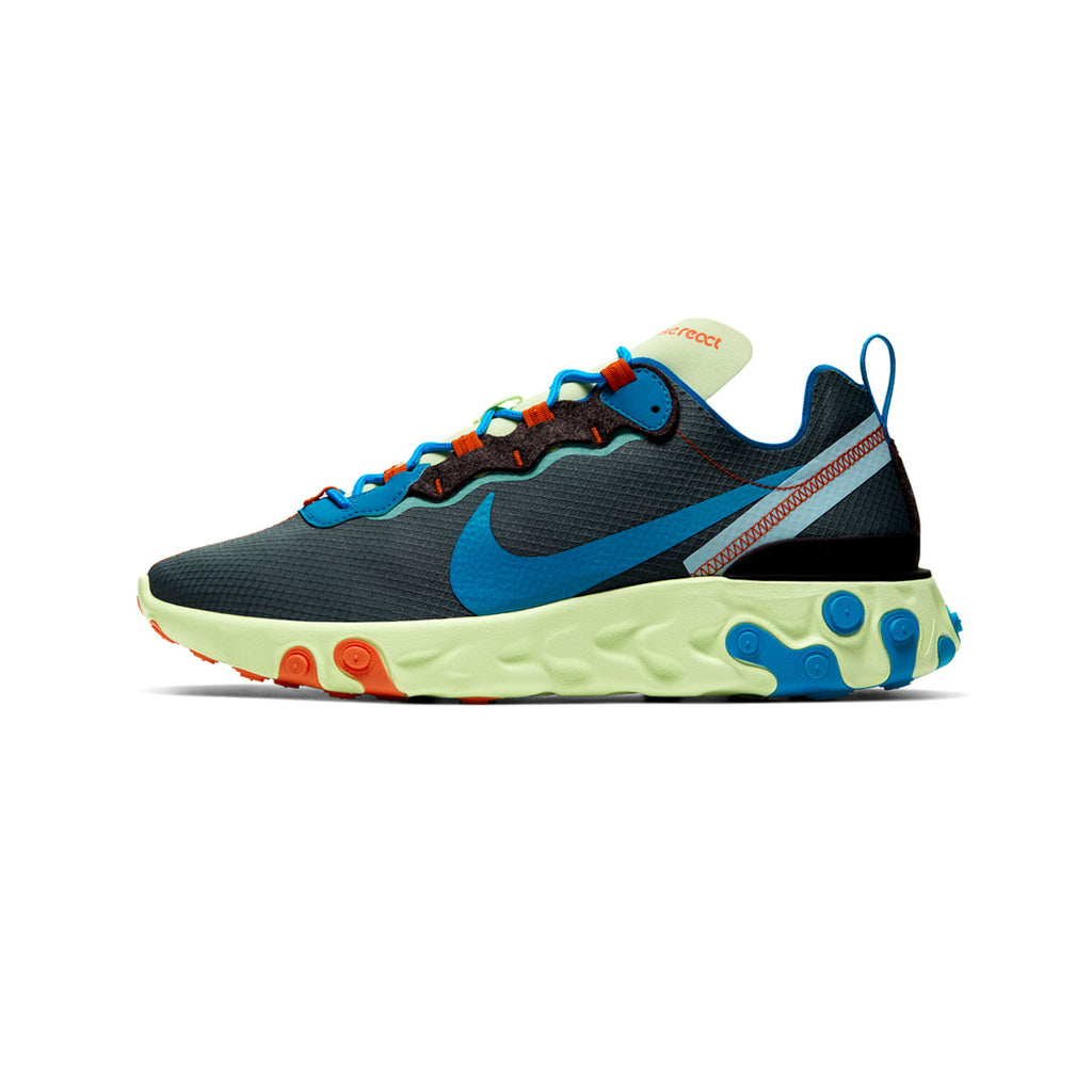 Nike Men's React Element 55 SE Volt Blue Stardust - KickzStore