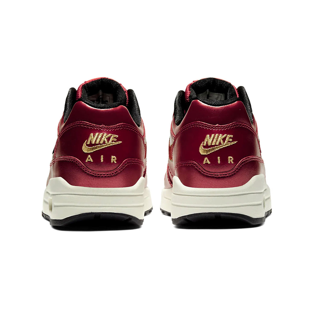 Nike Women's Air Max 1 Iron Clash Red Gold Sequin