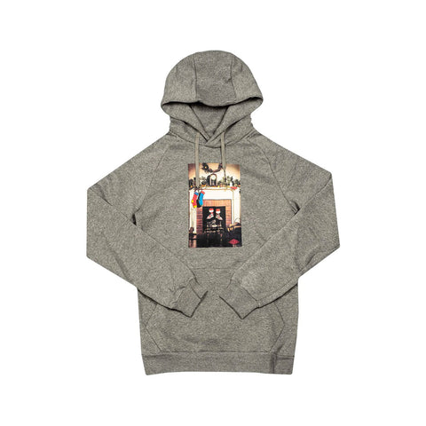 Air Jordan Men's AJ1 Jumpman Chimney Pullover Hoodie Grey - KickzStore