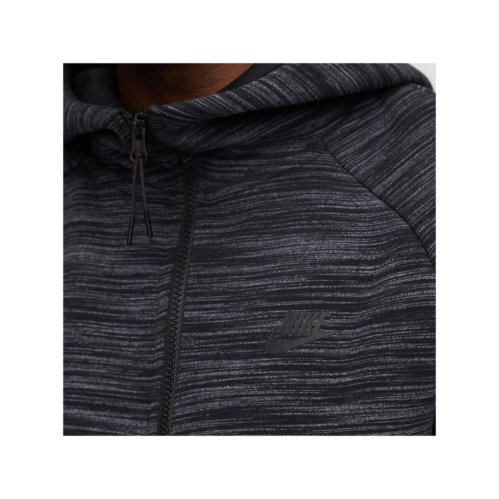 Nike Men's NSW Sportswear Tech Fleece Full Zip Hoodie Dark Grey Black Heather - KickzStore