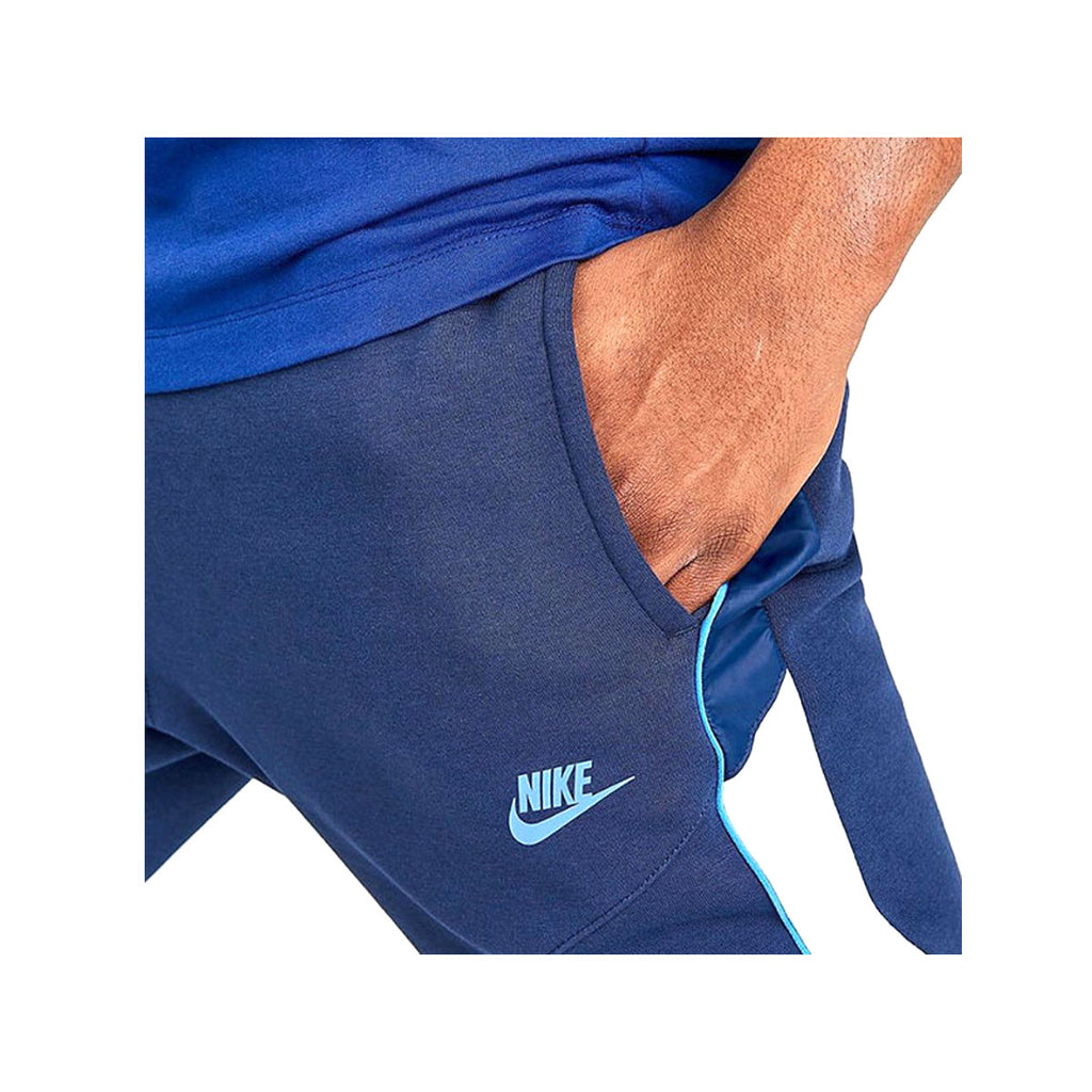 Nike Men's Sportswear Mixed Fleece Jogger Pants Navy White - KickzStore
