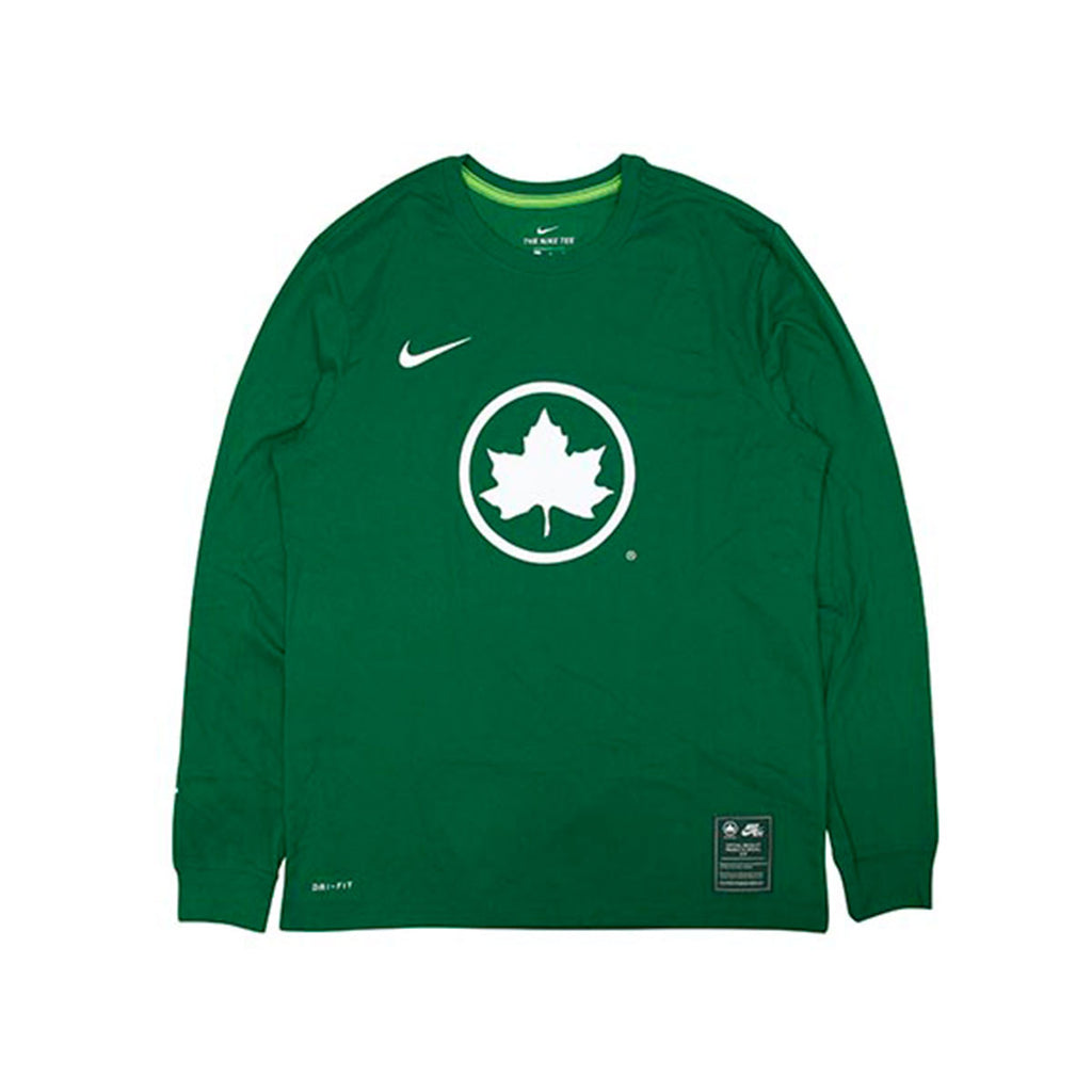 Nike Men's Sportswear NYC Parks Long Sleeve T-Shirt Dark Green - KickzStore