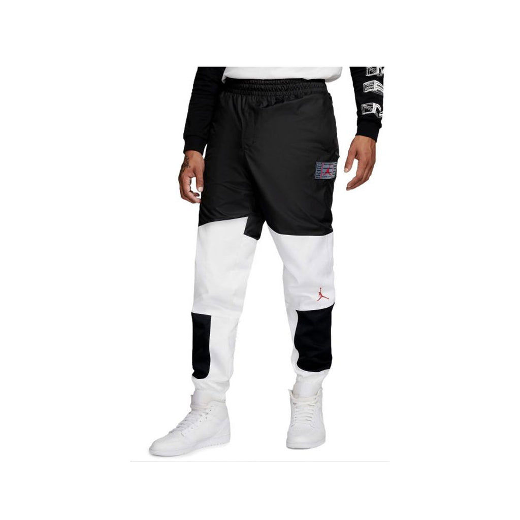 Air Jordan Men's Legacy AJ 11 Bred Playoff White Black Woven Jogger Pants