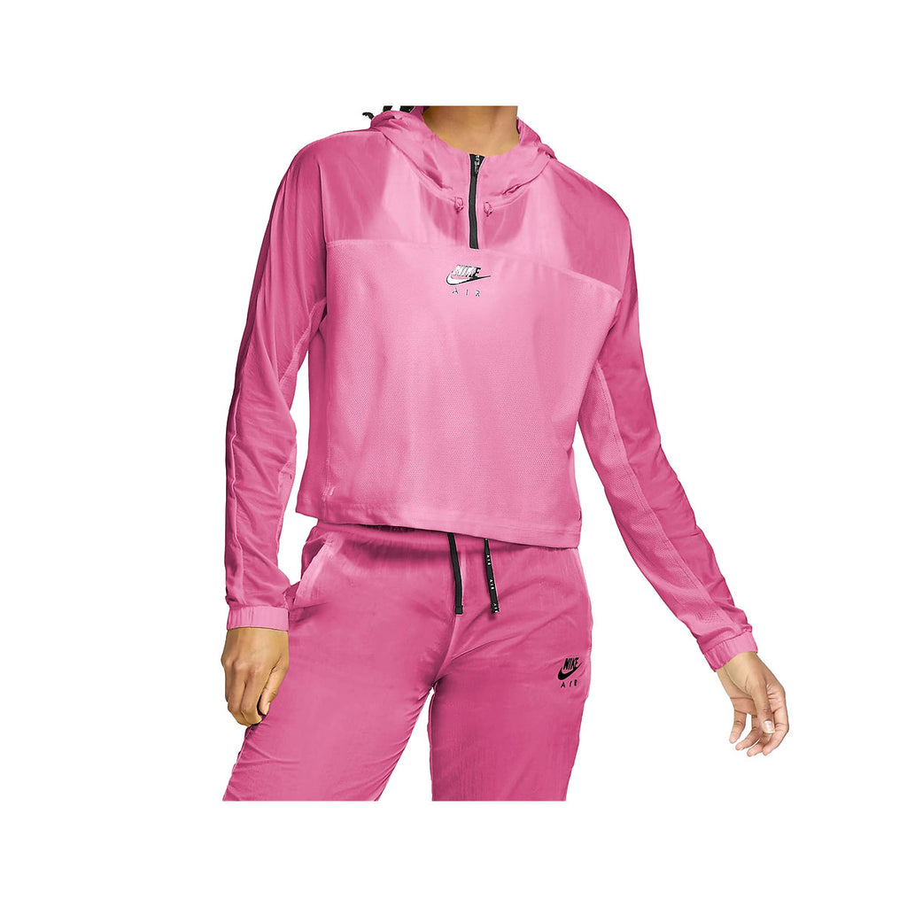 Nike Women's Air Hooded Running Jacket Pink Black - KickzStore