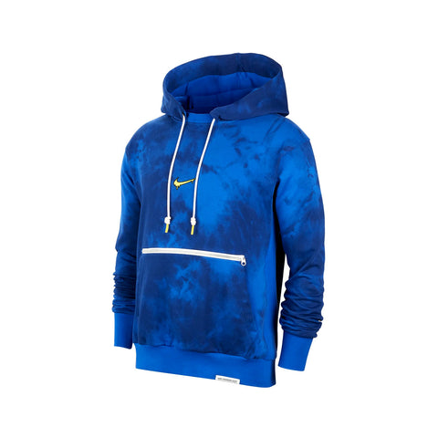 Nike Men's PEACE, LOVE, BASKETBALL Hardwood Dye Hoodie Blue - KickzStore