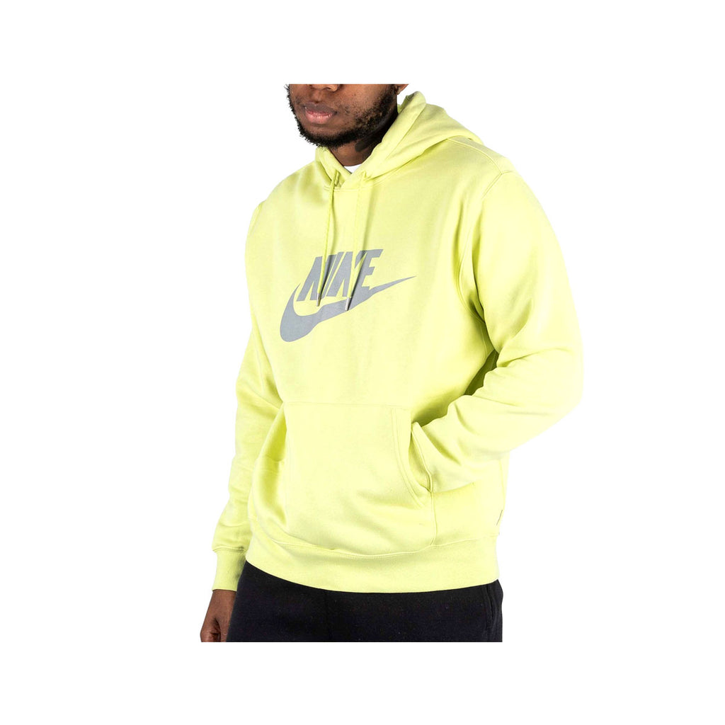 Nike Men's NSW Pullover Reflective Check Hoodie Limelight Green - KickzStore