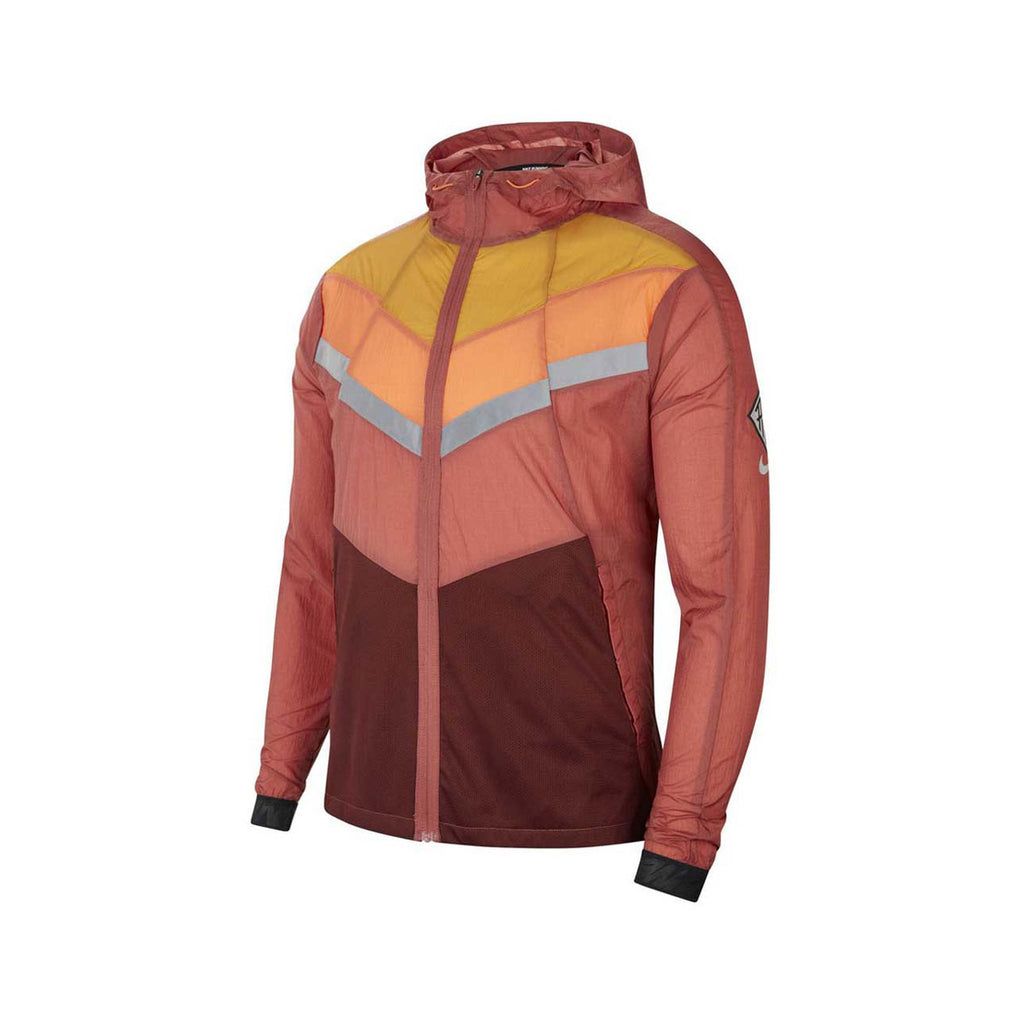 NIke Men's Wind Runner Wild Run Jacket Burgundy Orange