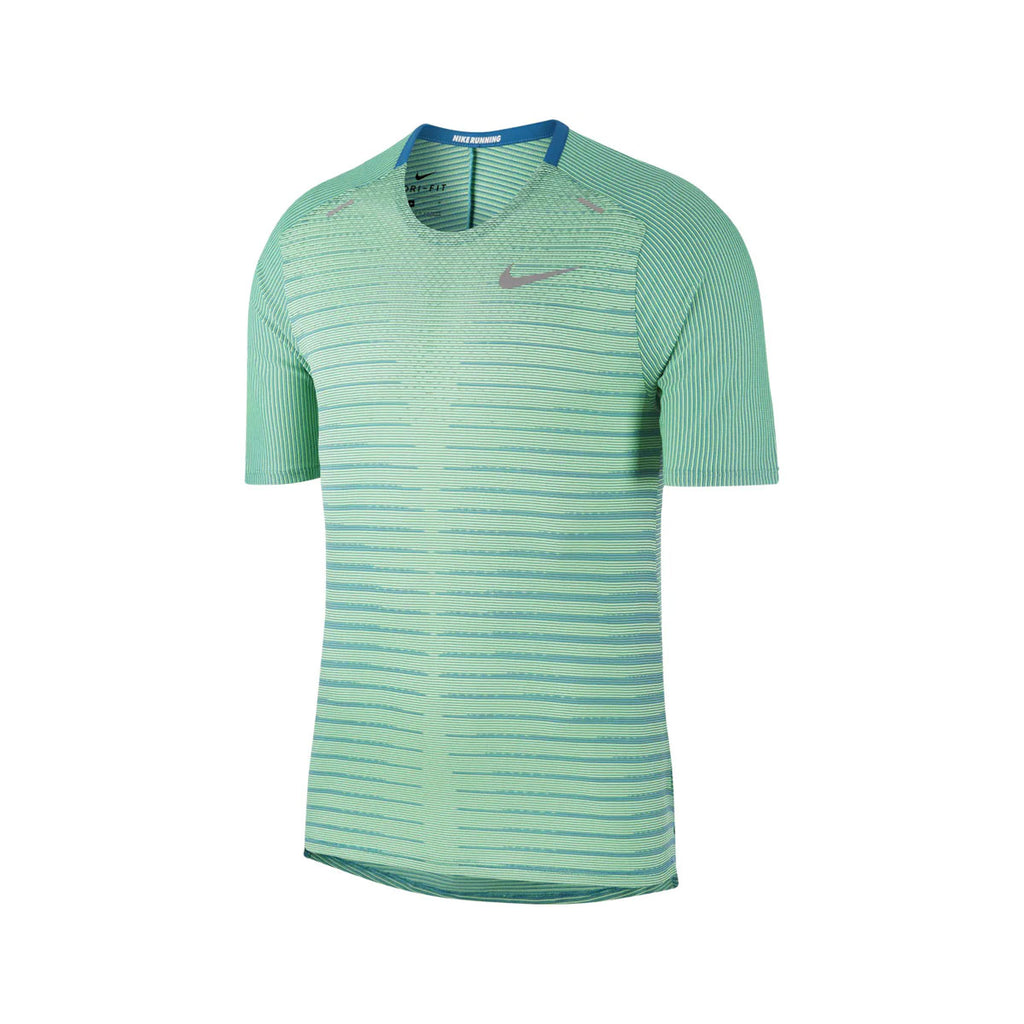Nike Men's TechKnit Future Fast Running Top Lime Green - KickzStore