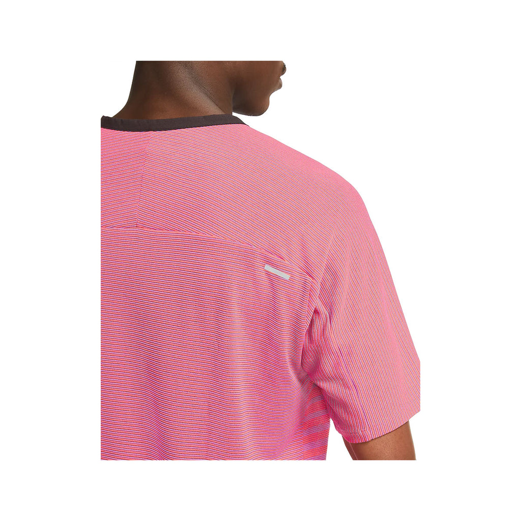 Nike Men's TechKnit Future Fast Running Top Pink Infared - KickzStore