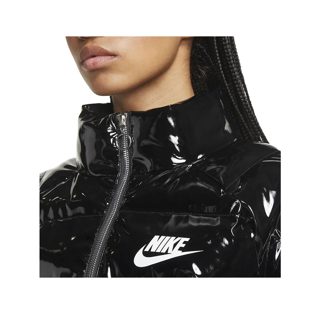 Nike Women's Sportswear Icon Clash Synthetic Fill Puffer Jacket Black - KickzStore