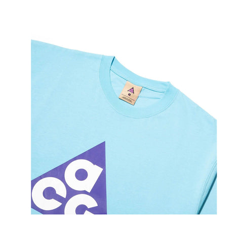 Nike NRG ACG Giant Logo SS Tee Gale Blue Fusion Violet - KickzStore