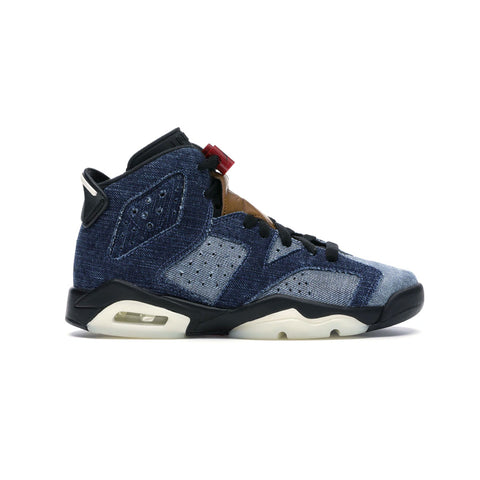 Air Jordan Big Kid's 6 VI GS Retro Washed Denim