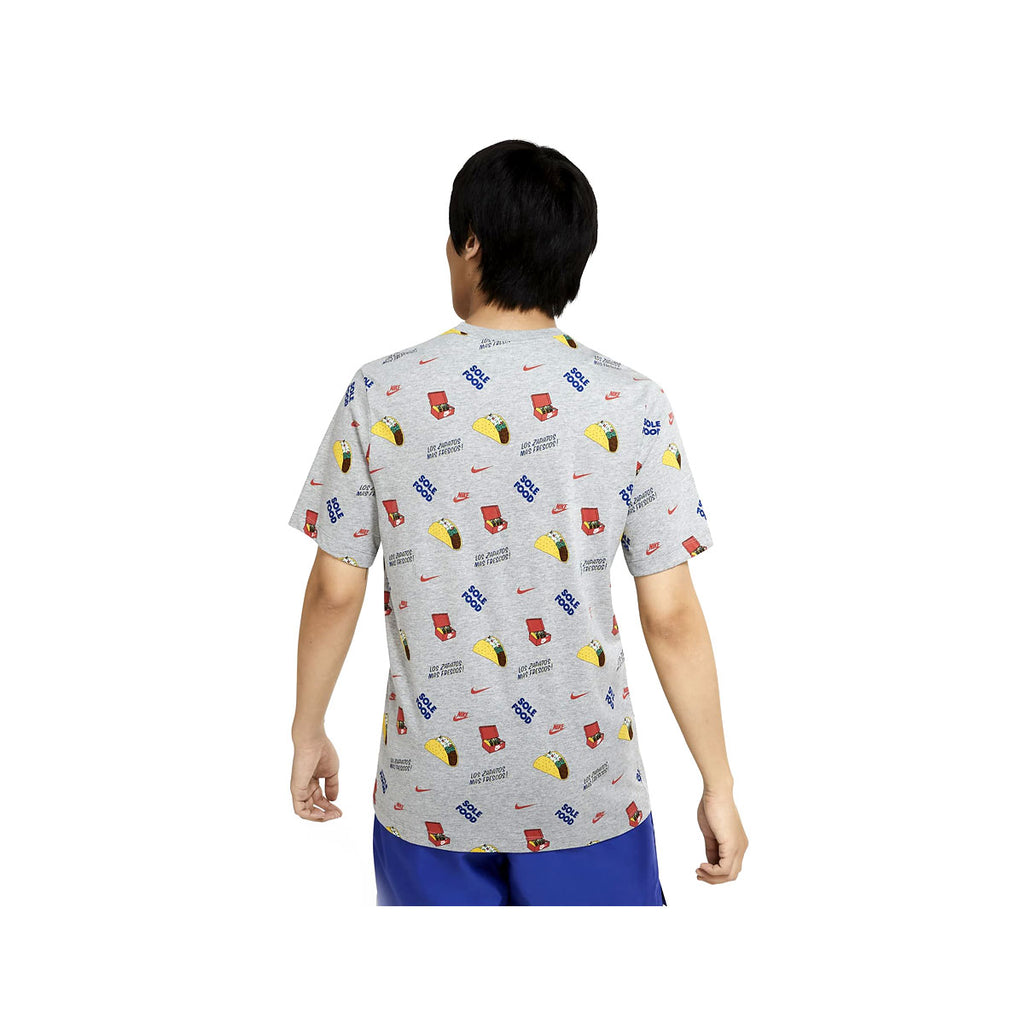 Nike Men's Sportswear All Over Print Taco T-Shirt Gray