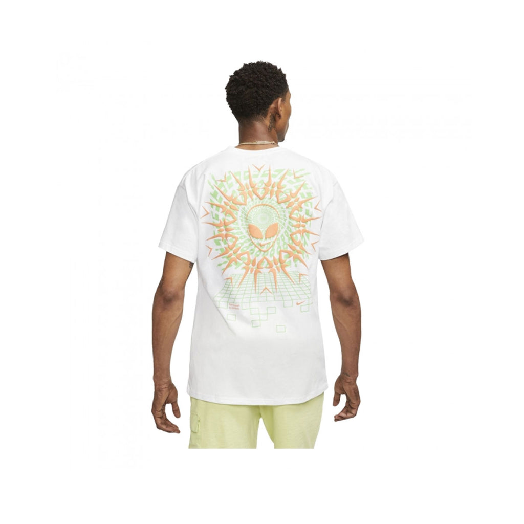 Nike Men's NSW AM90 Festival T-Shirt White Green Orange