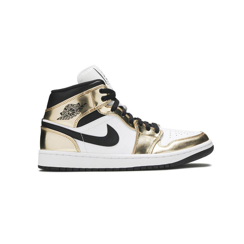 Air Jordan Men's 1 Mid SE White Metallic Gold - KickzStore
