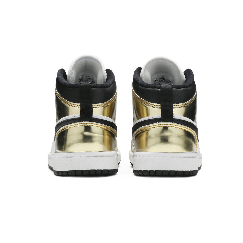 Air Jordan 1 Mid Metallic Gold Black White (PS) - KickzStore