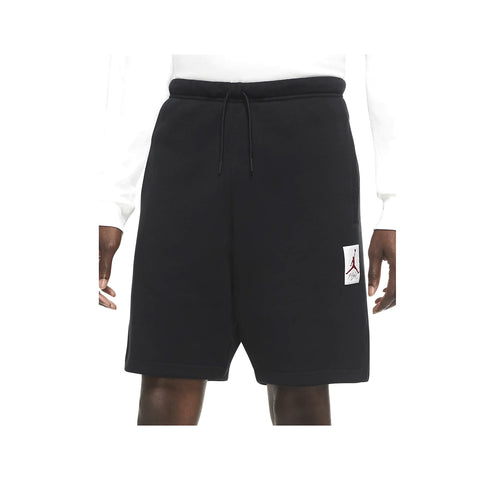 Air Jordan Men's AJ4 Graphic Fleece Shorts Black - KickzStore
