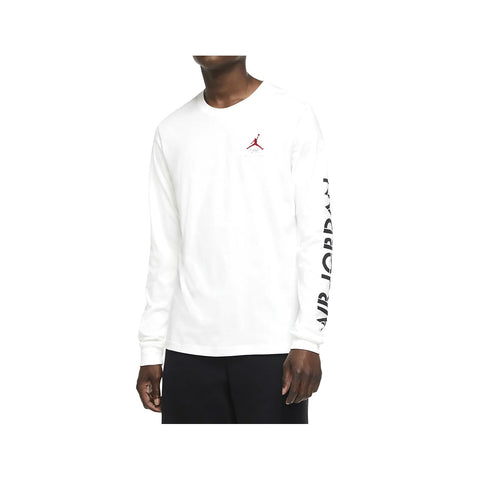Air Jordan Men's AJ4 Graphic Long Sleeve T-Shirt White - KickzStore