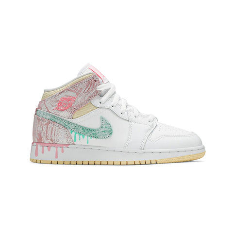 Air Jordan 1 Mid SE GS Paint Drip