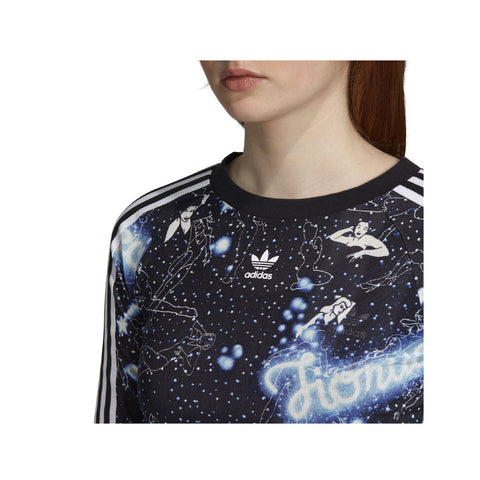 Adidas Originals Women's Fiorucci Graphic Multicolor Long Sleeve Tee