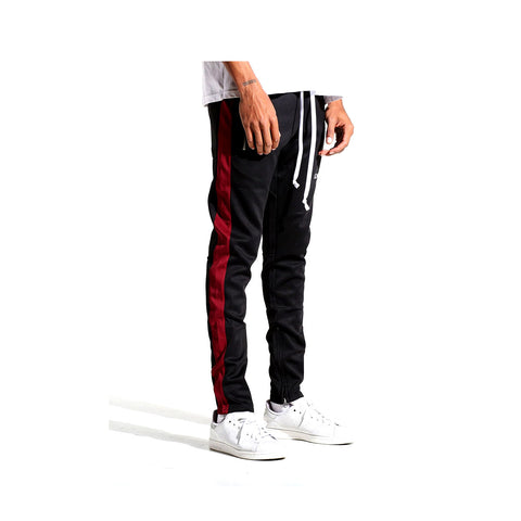 EPTM Men's Karter Track Pants Black Red White