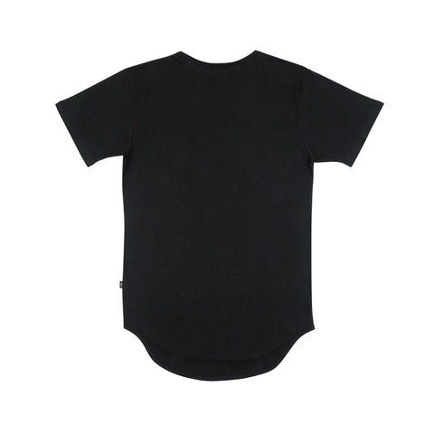 EPTM Men's Elongated Long Tee Black