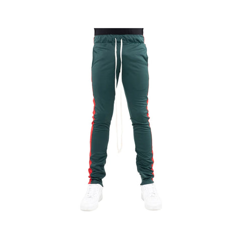 EPTM Men's Plain Track Pants Dark Green Red