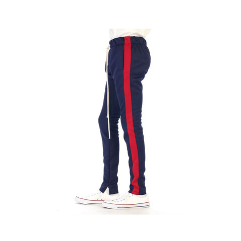 EPTM Men's Red Striped Track Pants Navy Red