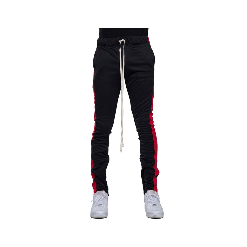 EPTM Men's Red Striped Track Pants Black Red - KickzStore