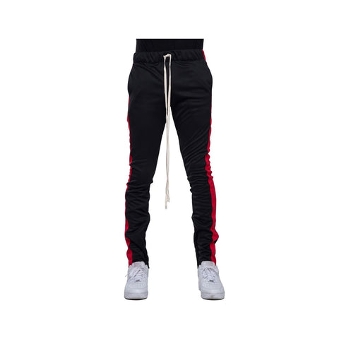 EPTM Men's Red Striped Track Pants Black Red