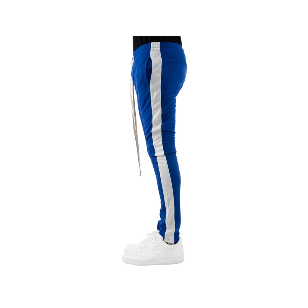 EPTM Men's White Striped Track Pants Blue White - KickzStore