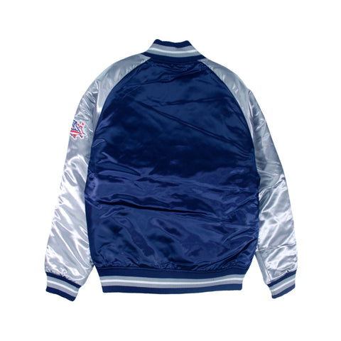 Mitchell & Ness Tough Season NFL Satin New England Patriots Jacket Navy Gray