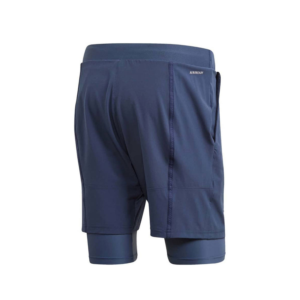 Adidas Men's Heat/RDY 2 In 1 Navy Blue Shorts