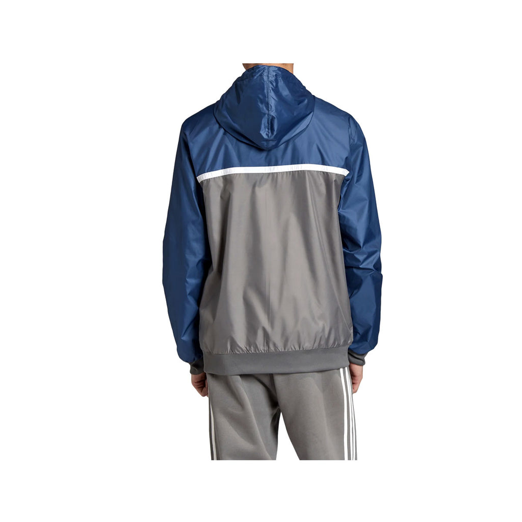 Adidas Men's Originals Linear Reverse Windbreaker Jacket Navy