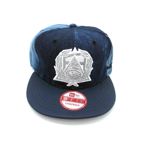 New Era x Secret Society Dark Blue Denim Eye Logo 9FIFTY Srapback Hat