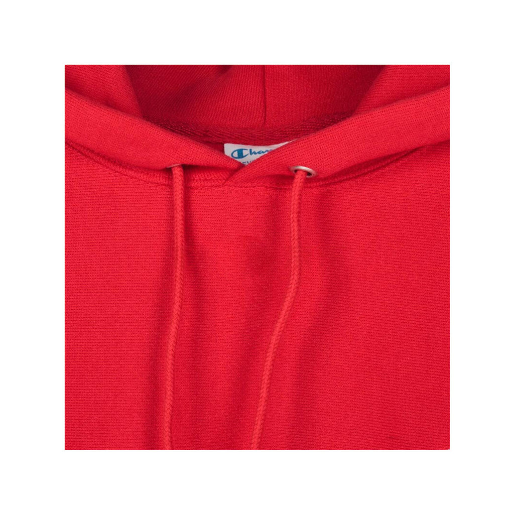 Champion's Men's Reverse Weave Scarlet Red Hoodie