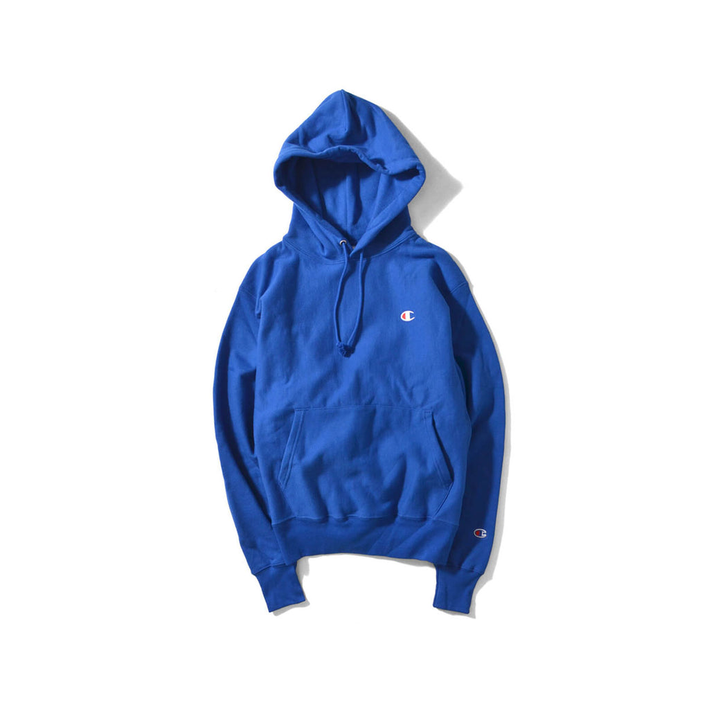 Champion Men's Life Reverse Weave Deep Blue Hoodie