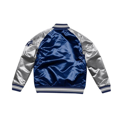 Mitchell & Ness Tough Season Satin New York Yankees Jacket Navy Gray