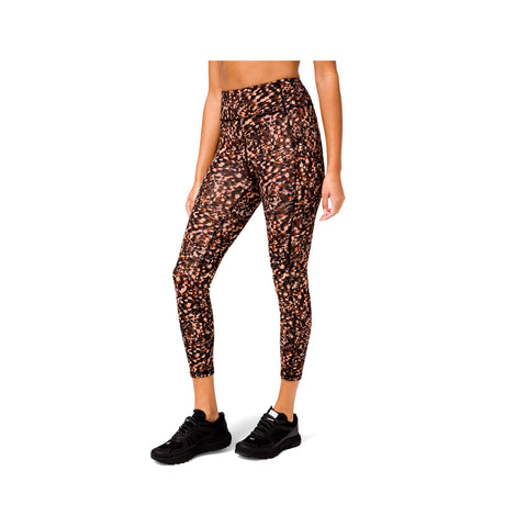 "Lululemon Women's Invigorate 25"" Tight Coral Black Print Leggings"