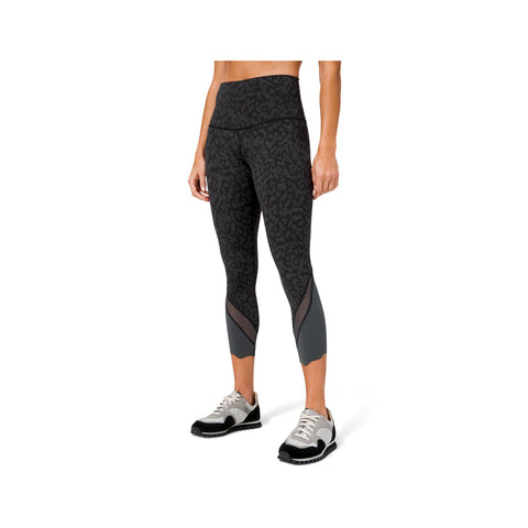 "Lululemon Women's Wunder Under HR 25"" Sculpted Wild Thing Dark Grey Leggings"