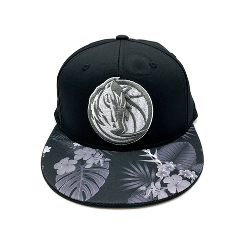 Adidas Dallas Mavericks Floral Brim Fitted Hat Black Grey