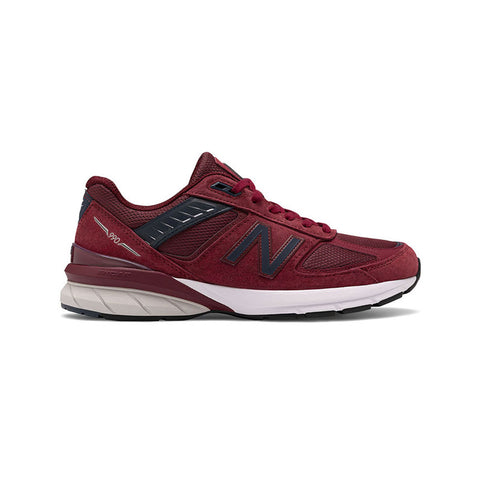 New Balance Men's 990 M990BU5 Made in USA Burgundy Navy Pigskin - KickzStore