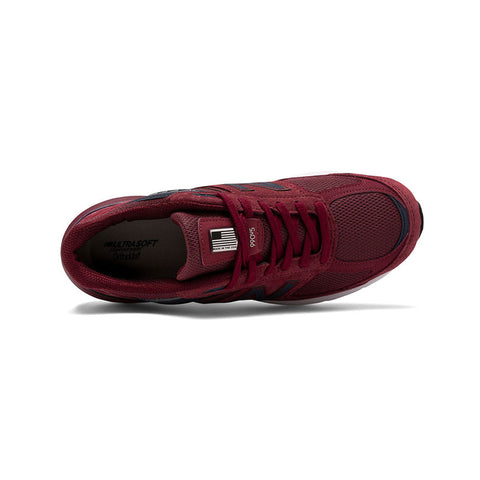 New Balance Men's 990 M990BU5 Made in USA Burgundy Navy Pigskin