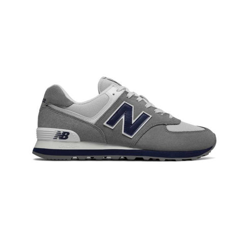 New Balance Men's 574 Core Plus Gunmetal Navy ML574ESD Running Shoes